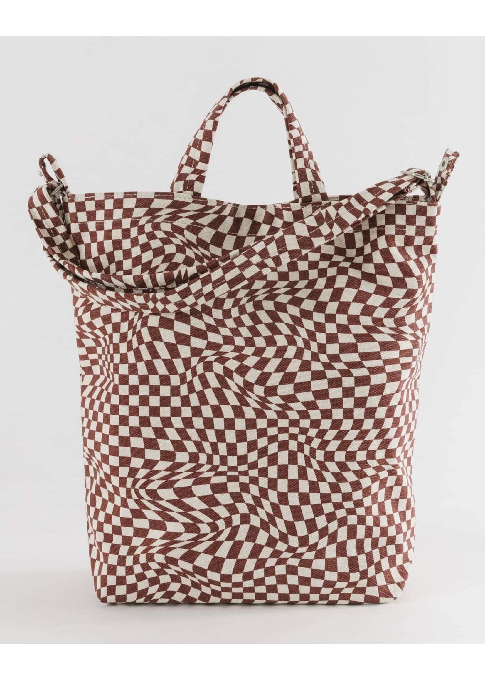 Baggu Baggu Duck Canvas Bag - Maroon Trippy Checker