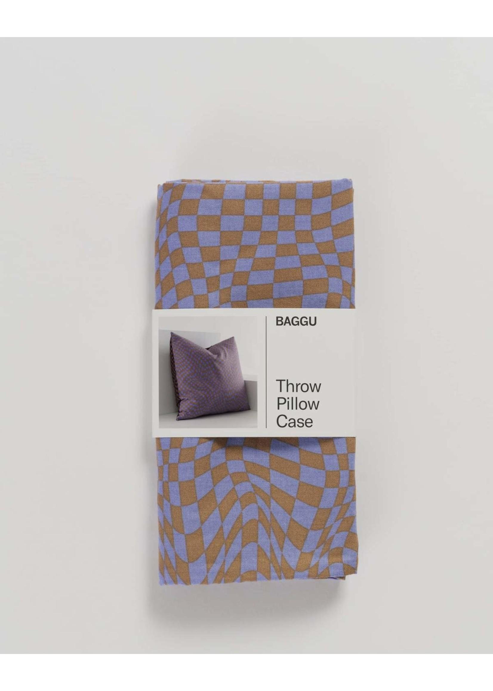 Baggu Baggu Throw Pillow Case - Trippy Checker Mix