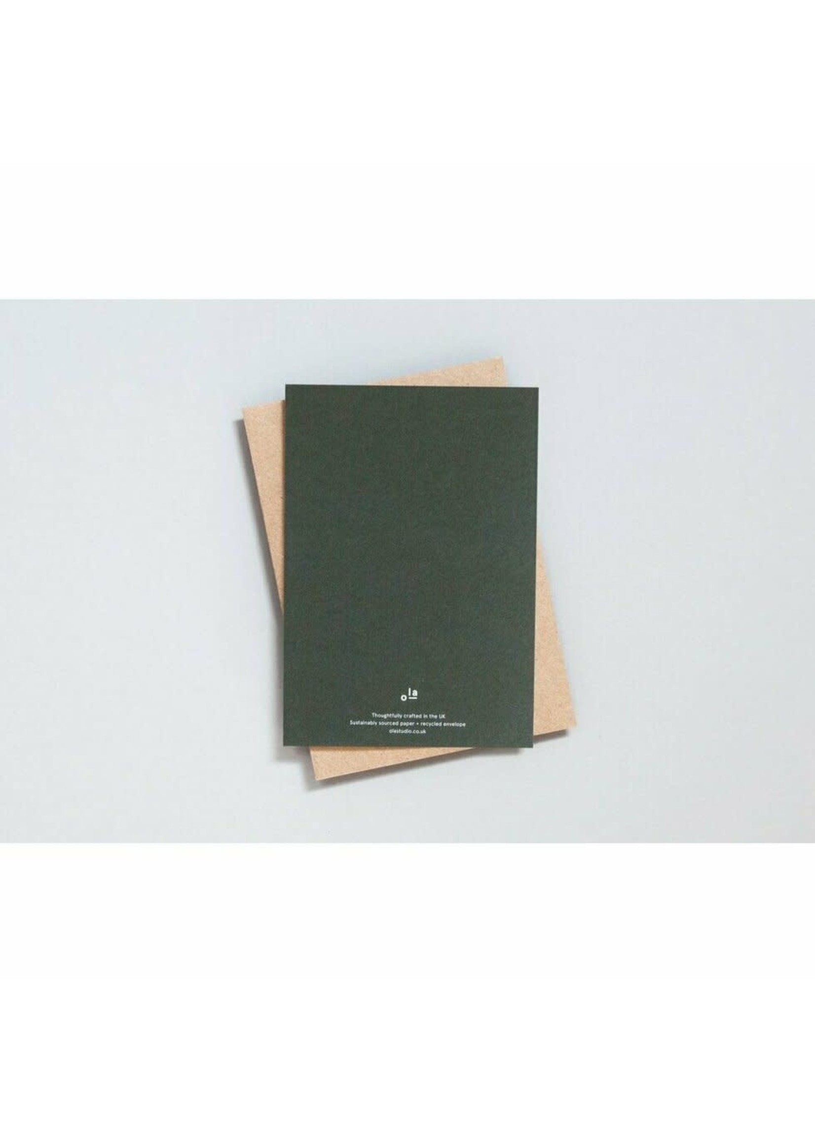 Ola Ola Foil Blocked Cards: Bauble Green/Brass