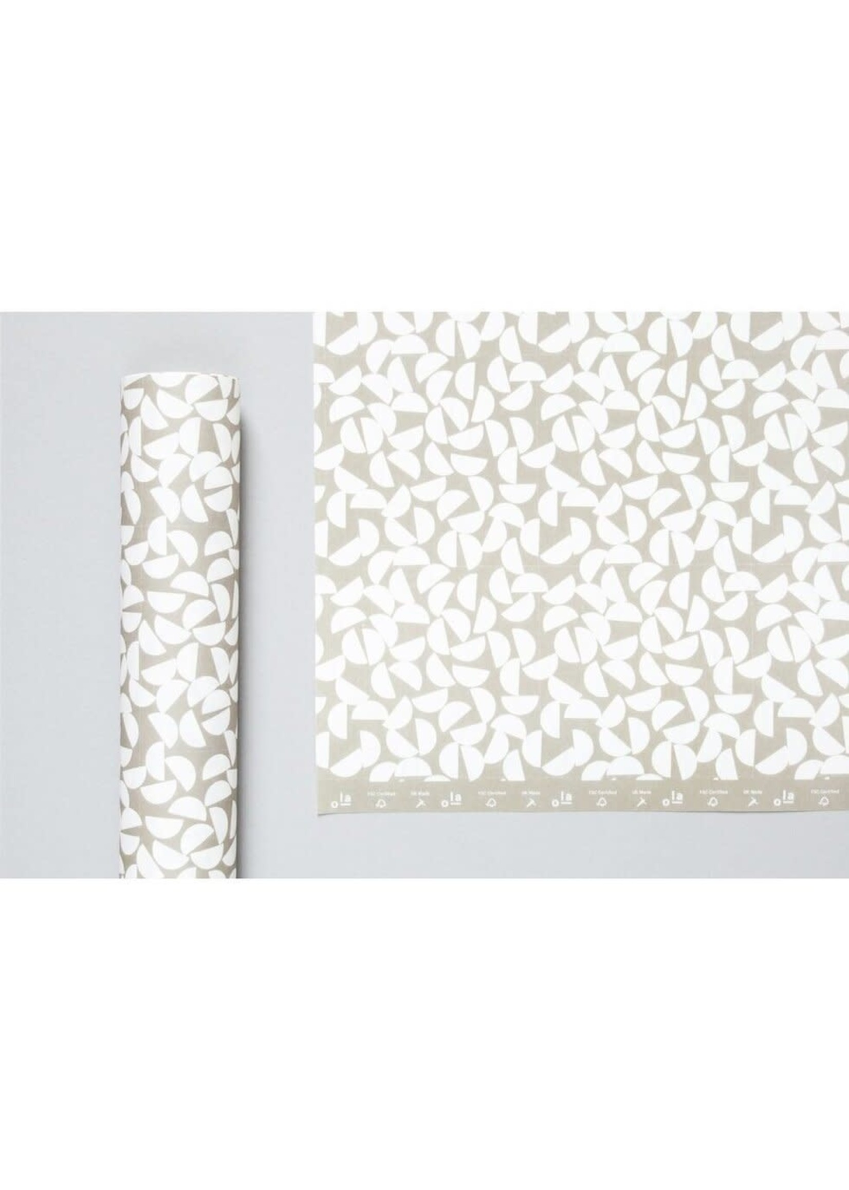 Ola Ola Patterned Papers: Maze Print, Sand