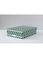 Ola Large Archive Box A4 | Benita print in Forest Green
