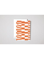 Ola Limited Edition Single Postcard | Anni print in Orange