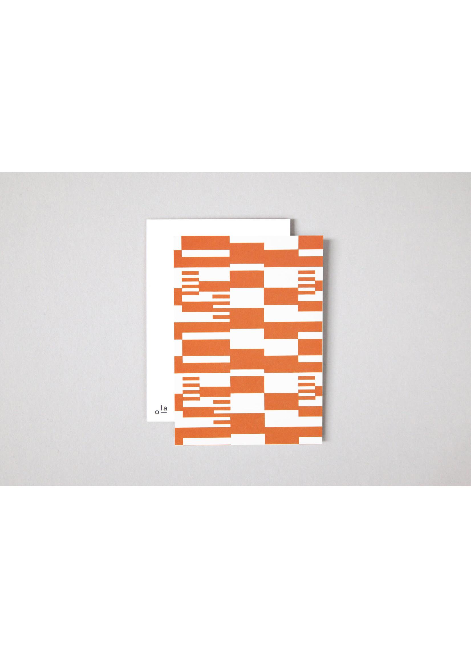 Ola Ola Limited Edition Single Postcard | Anni print in Orange