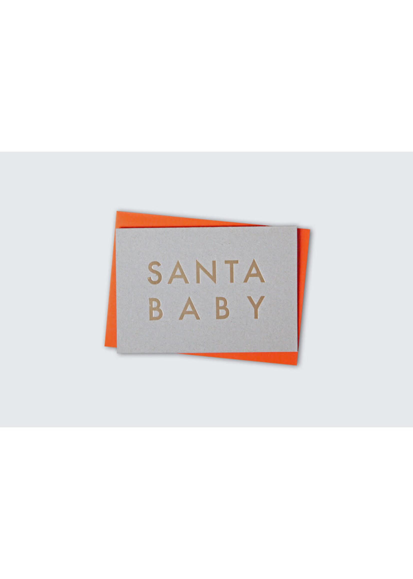 Ola Ola Foil Blocked Cards: SANTA BABY - Grey