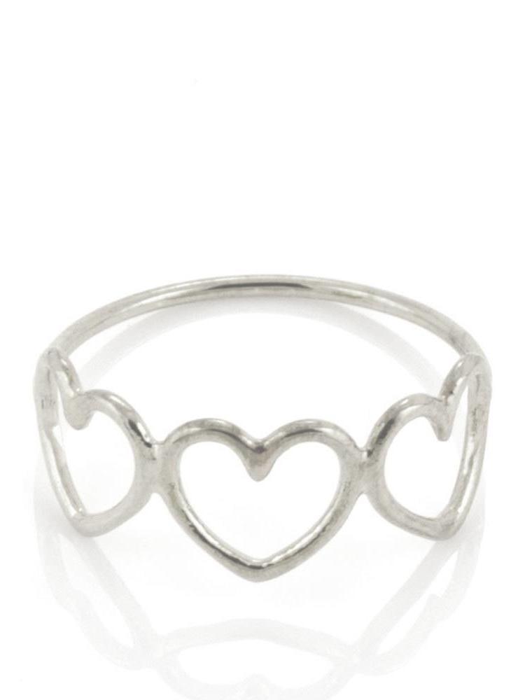 Laura Gravestock Laura Gravestock Written Multi Heart Ring