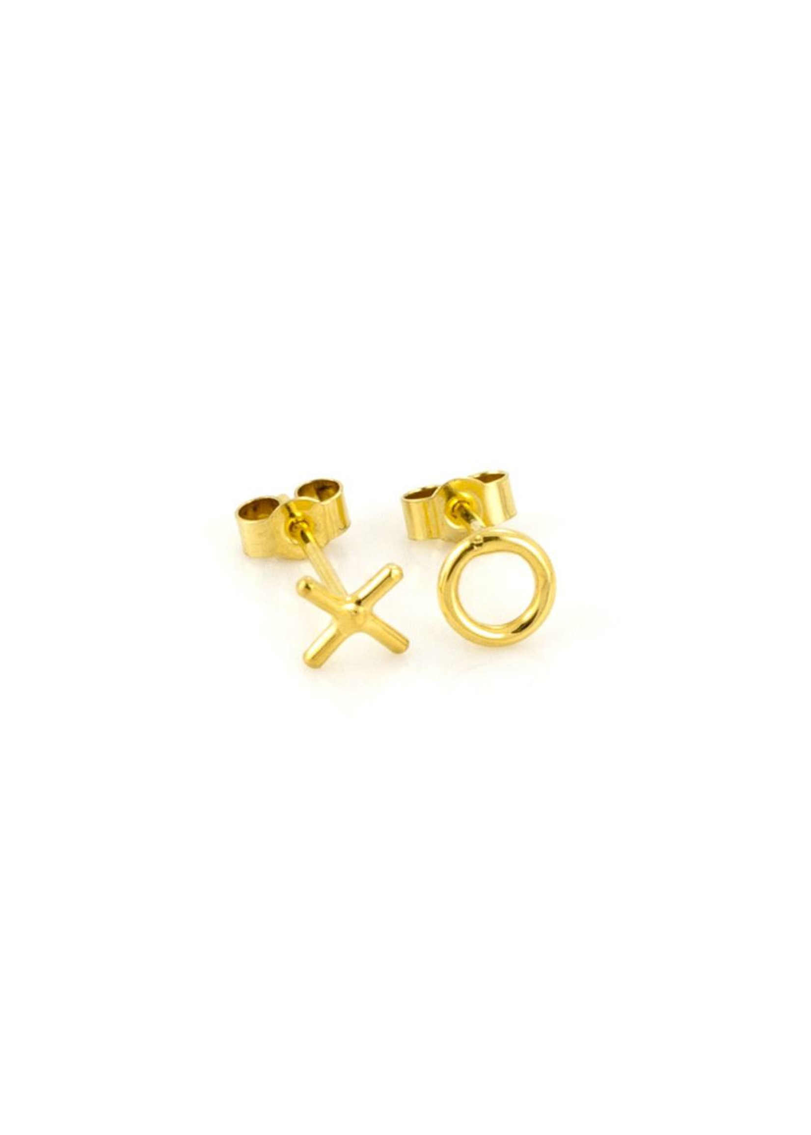 Laura Gravestock Laura Gravestock Written X O Stud Earring - Gold Plated