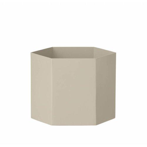 ferm LIVING Hexagon Pot - Grey - Large