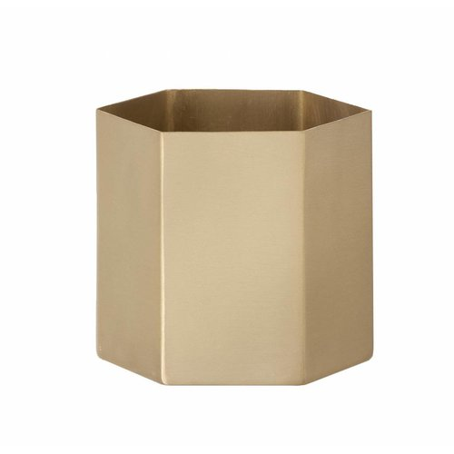 ferm LIVING Hexagon Pot - Brass - Large