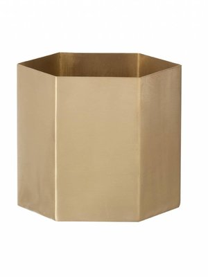 ferm LIVING Hexagon Pot - Brass - Small