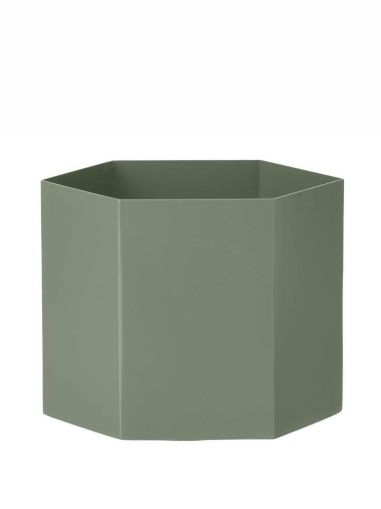 ferm LIVING Ferm Living Hexagon Pot - Dusty Green - Extra Large