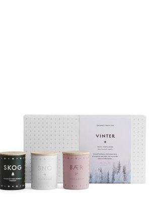 SKANDINAVISK VINTER Mini Candle Set - Three Mini Candles