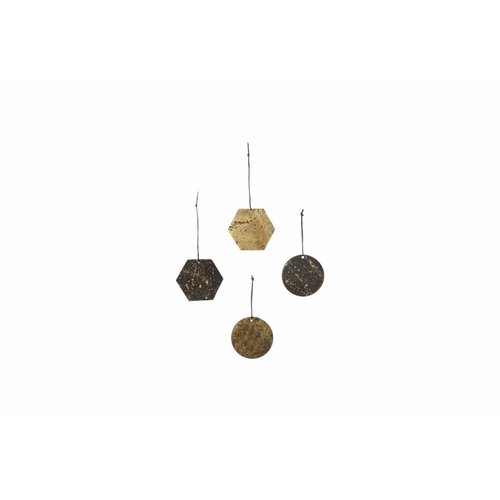ferm LIVING Patina Brass Ornaments (set of 4)