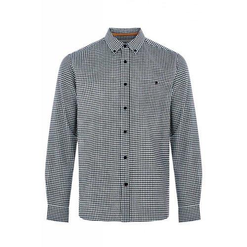 HYMN London 'BUZZCOCK' Gingham Shirt - Black