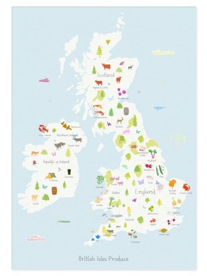 Holly Francesca Map of British Isles Produce A3