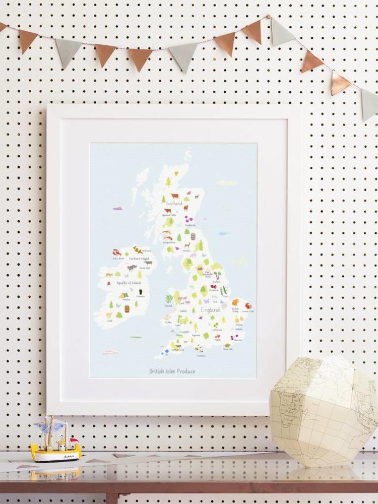 Holly Francesca Holly Francesca Map of British Isles Produce A3
