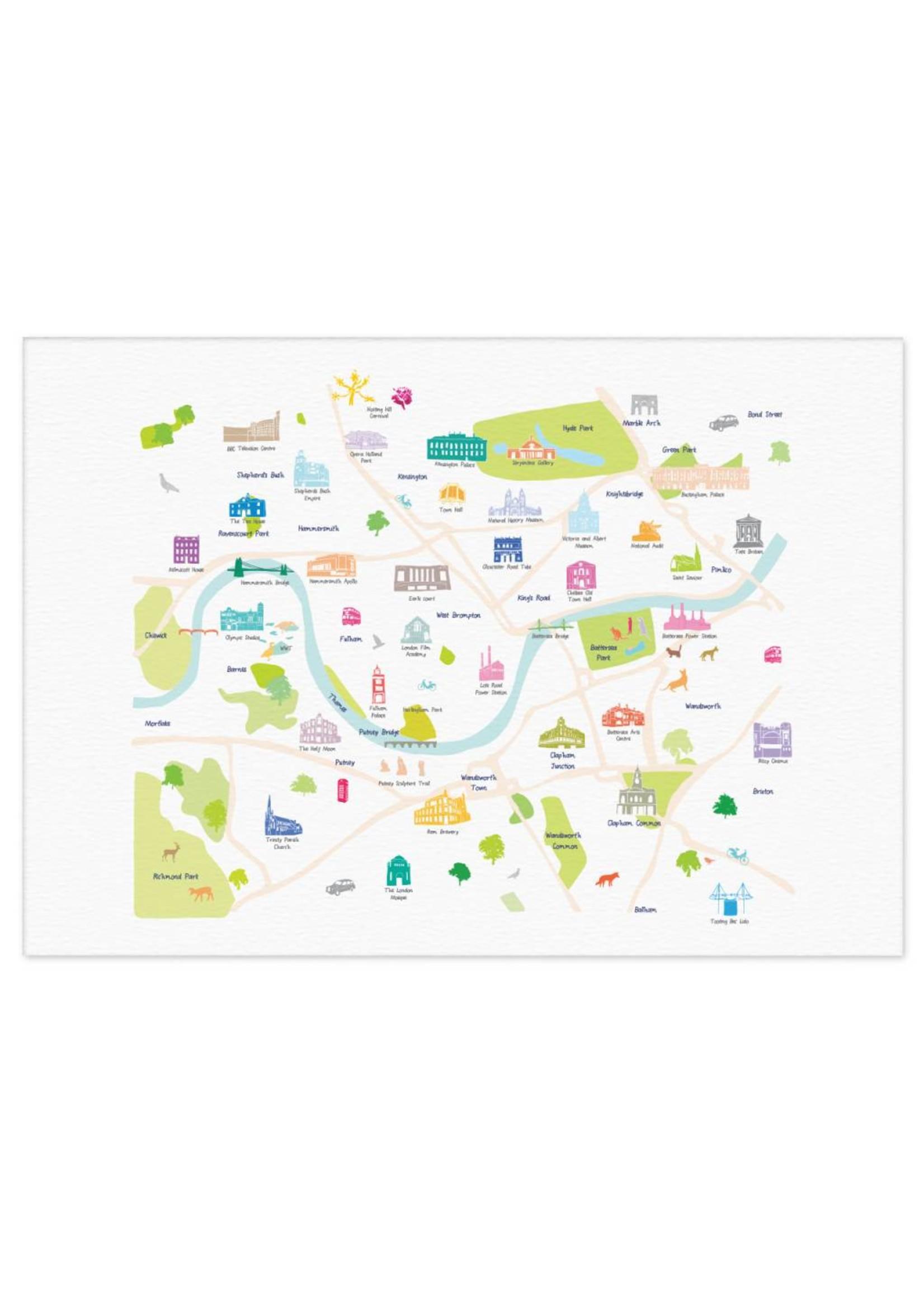 Holly Francesca Holly Francesca Map of Central South West London A3