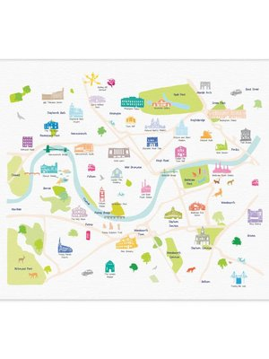 Holly Francesca Map of Central South West London A3