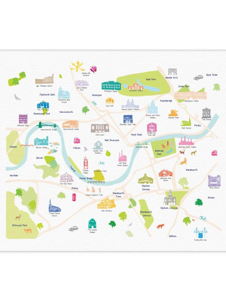 Map Of Central London To Print.Holly Francesca Holly Francesca Map Of Central South West London A3