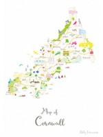 Holly Francesca Map of Cornwall A3