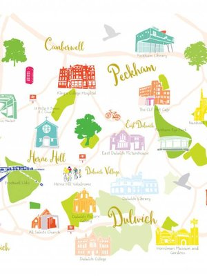 Holly Francesca Holly Francesca Map of Dulwich, Brixton and Peckham A3