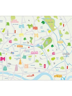 Holly Francesca Map of East London A3