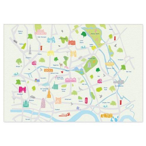 Holly Francesca Map of East London A3