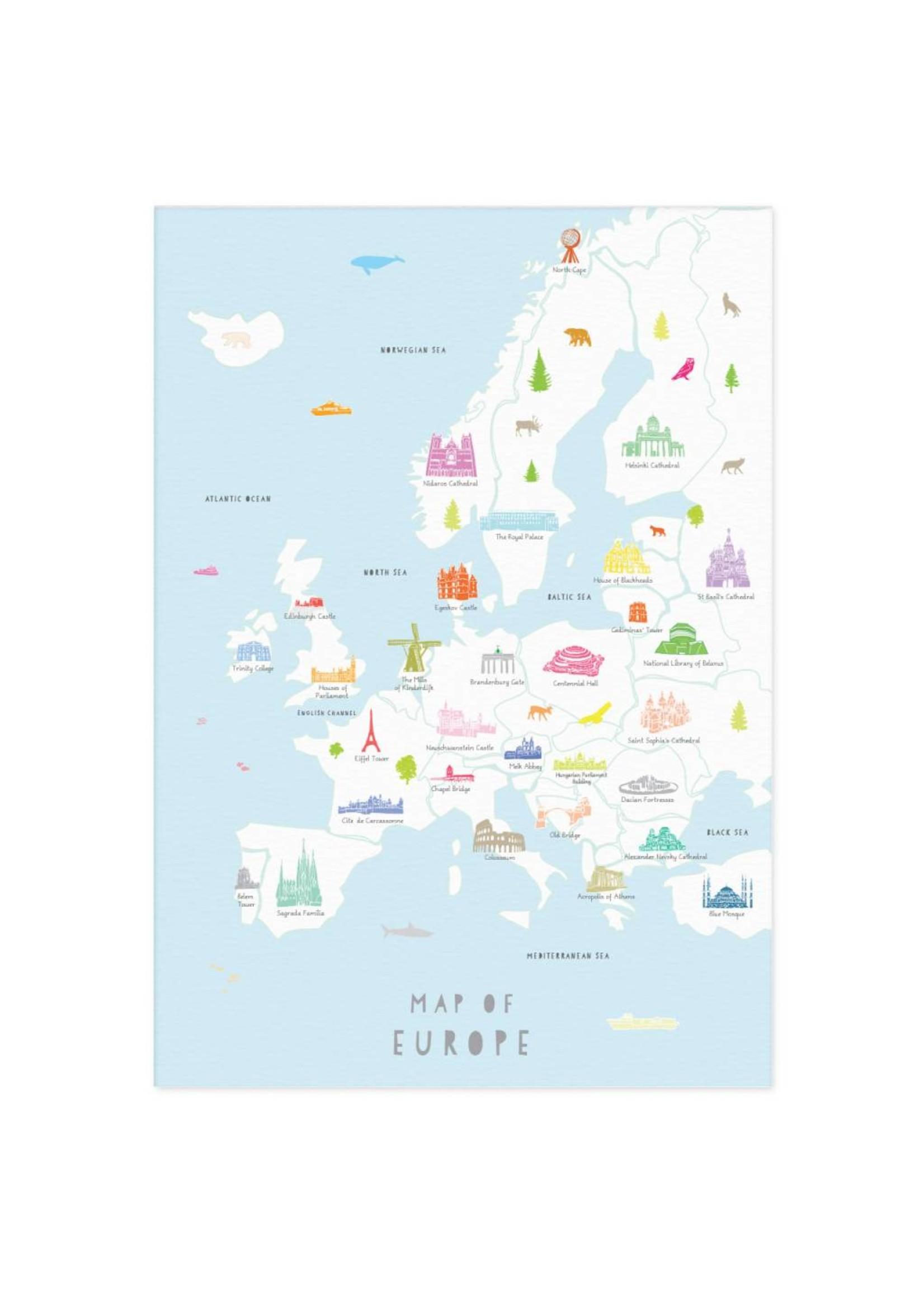 Holly Francesca Holly Francesca Map of Europe A3