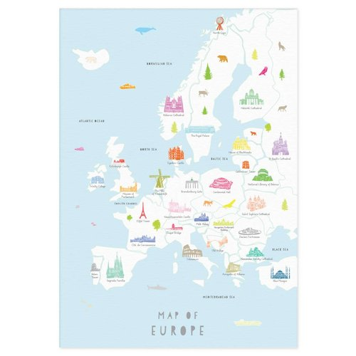 Holly Francesca Map of Europe A3