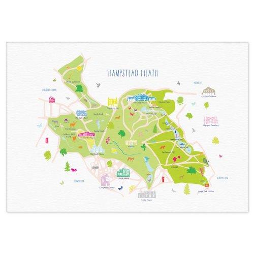 Holly Francesca Map of Hampstead Heath A3
