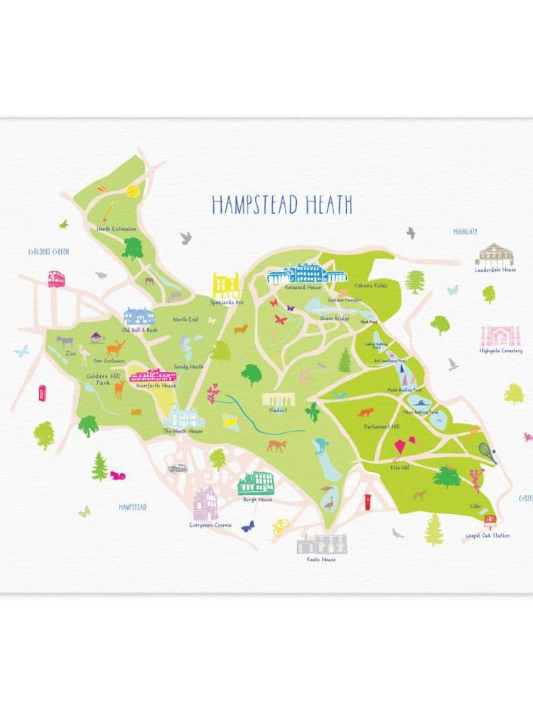 Holly Francesca Holly Francesca Map of Hampstead Heath A3