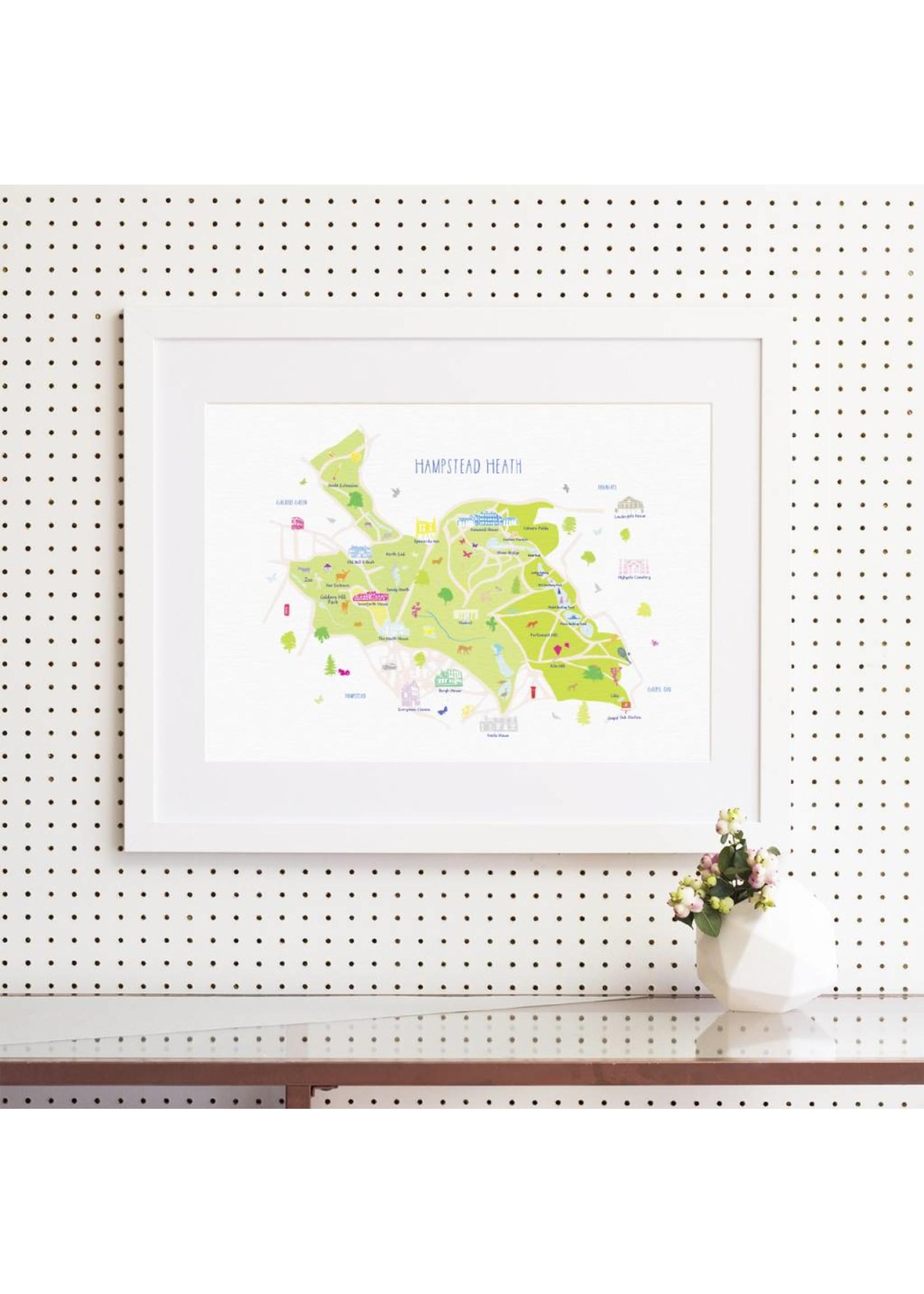 Holly Francesca Holly Francesca Map of Hampstead Heath A3