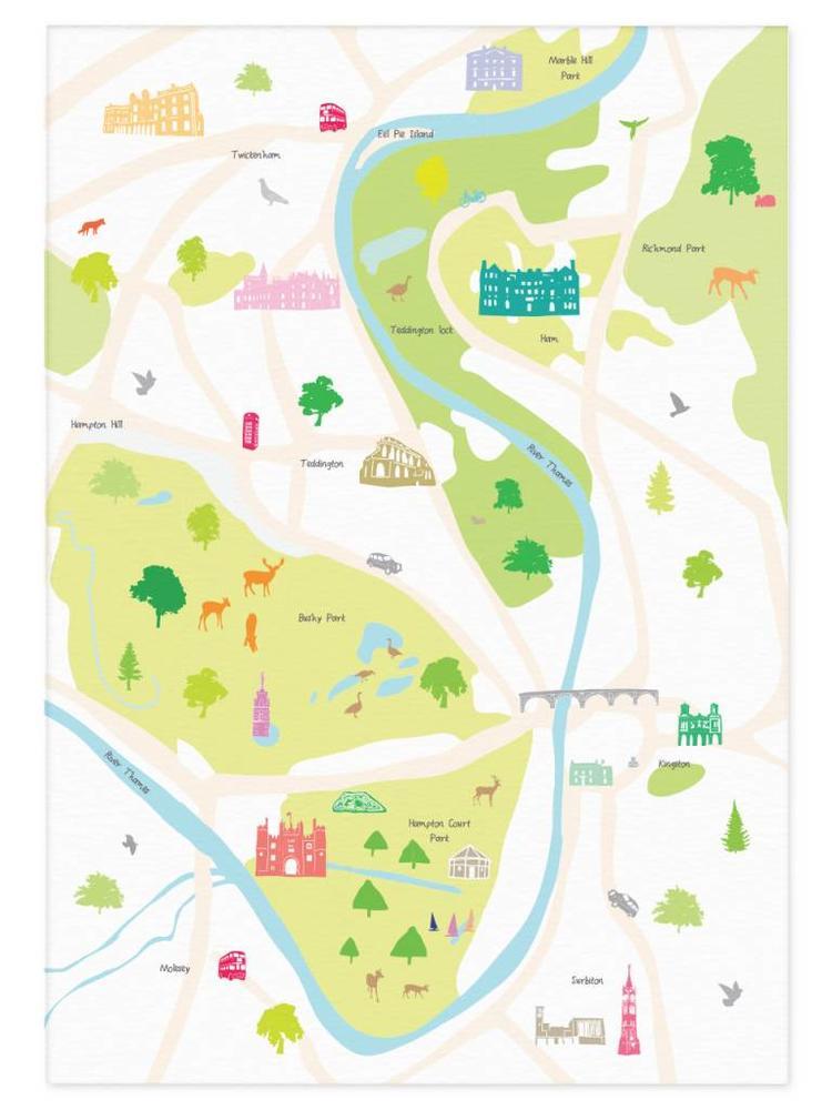 Holly Francesca Holly Francesca Map of Hampton Court A3