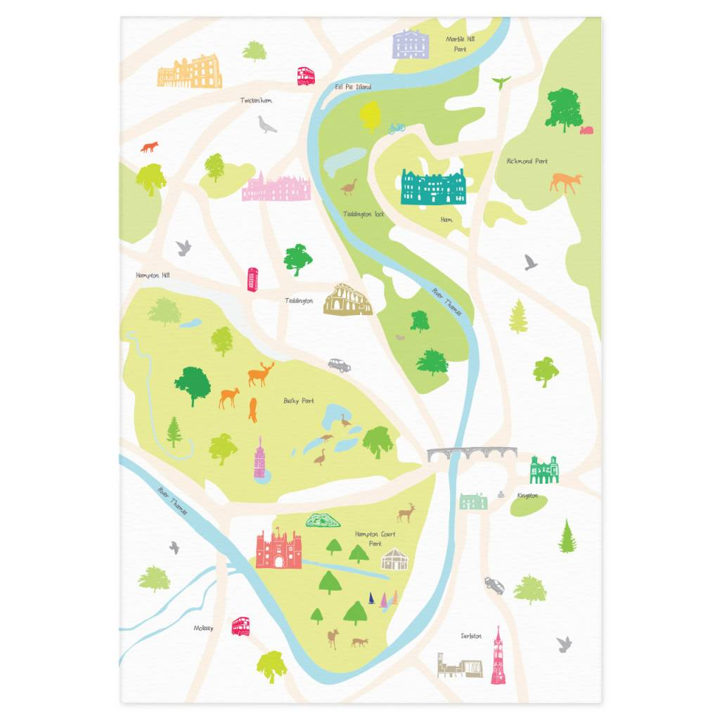 cc4b647e367 Holly Francesca Map of Hampton Court Print - Truce