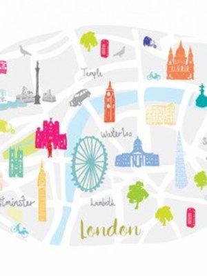 ferm LIVING Map of London A4