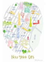 Holly Francesca Map of New York A4