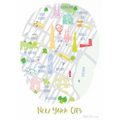 Holly Francesca Map of New York A4