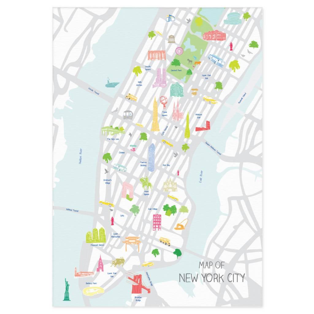 City Map Of New York.Holly Francesca Holly Francesca Map Of New York City A3