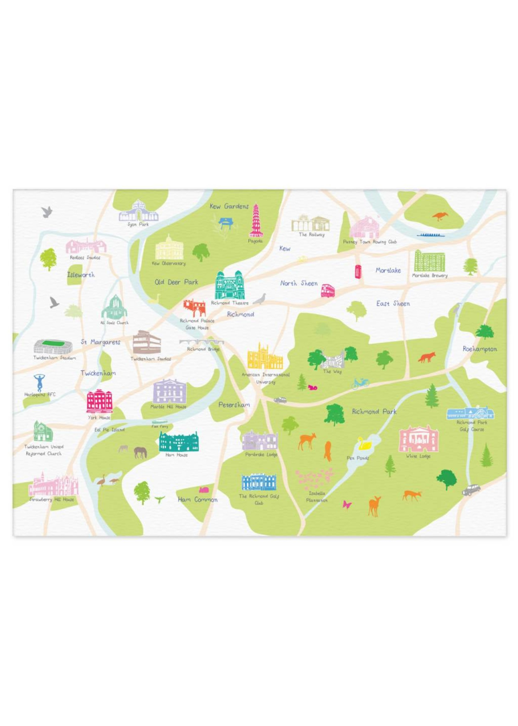 Holly Francesca Holly Francesca Map of Richmond A3
