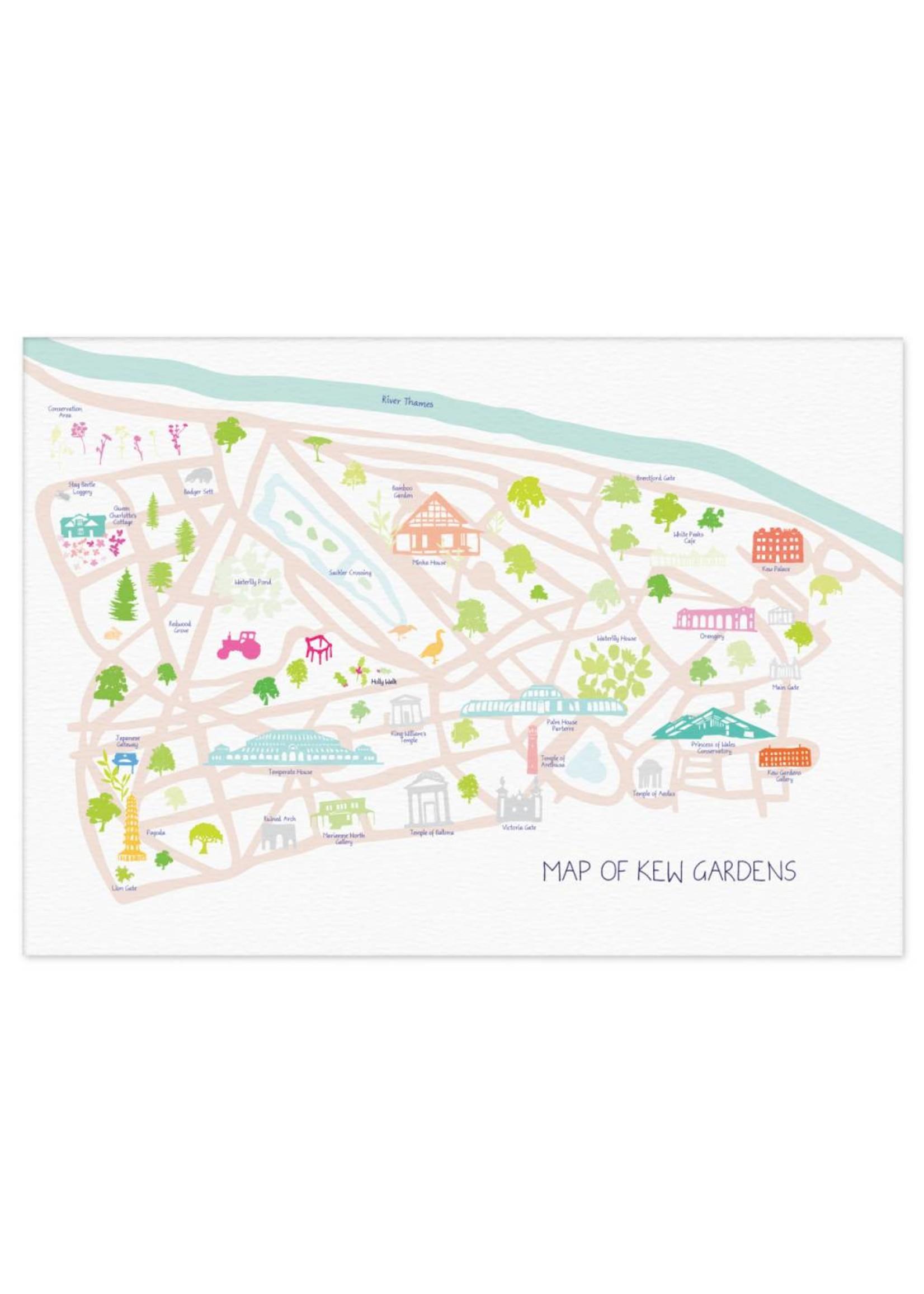 Holly Francesca Holly Francesca Map of Royal Botanic Gardens, Kew - A3