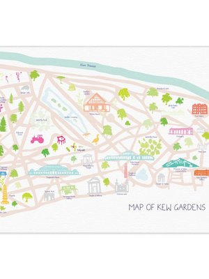 Holly Francesca Map of Royal Botanic Gardens, Kew - A3
