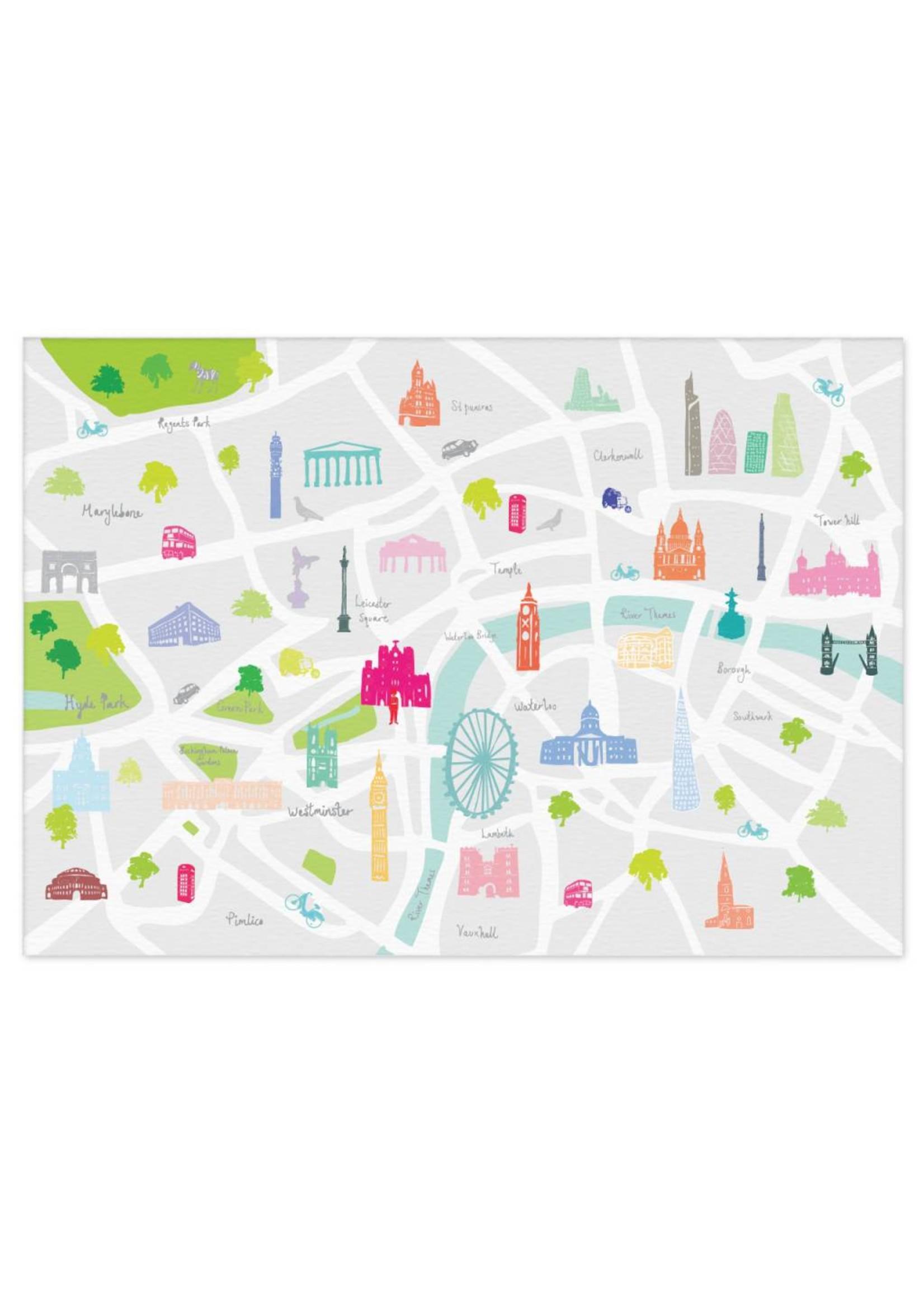 Holly Francesca Holly Francesca Map of London - A3