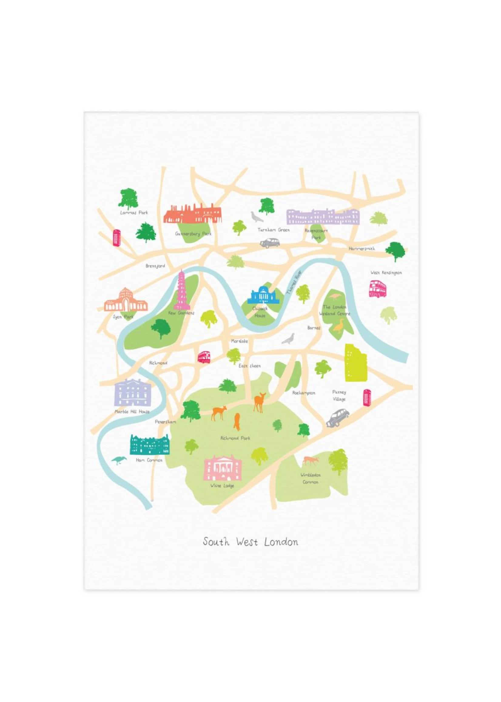Holly Francesca Holly Francesca Map of South West London A3