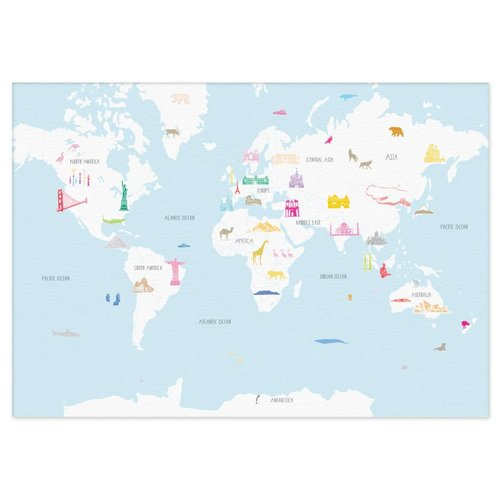 Holly Francesca Map of the World Wonders A3