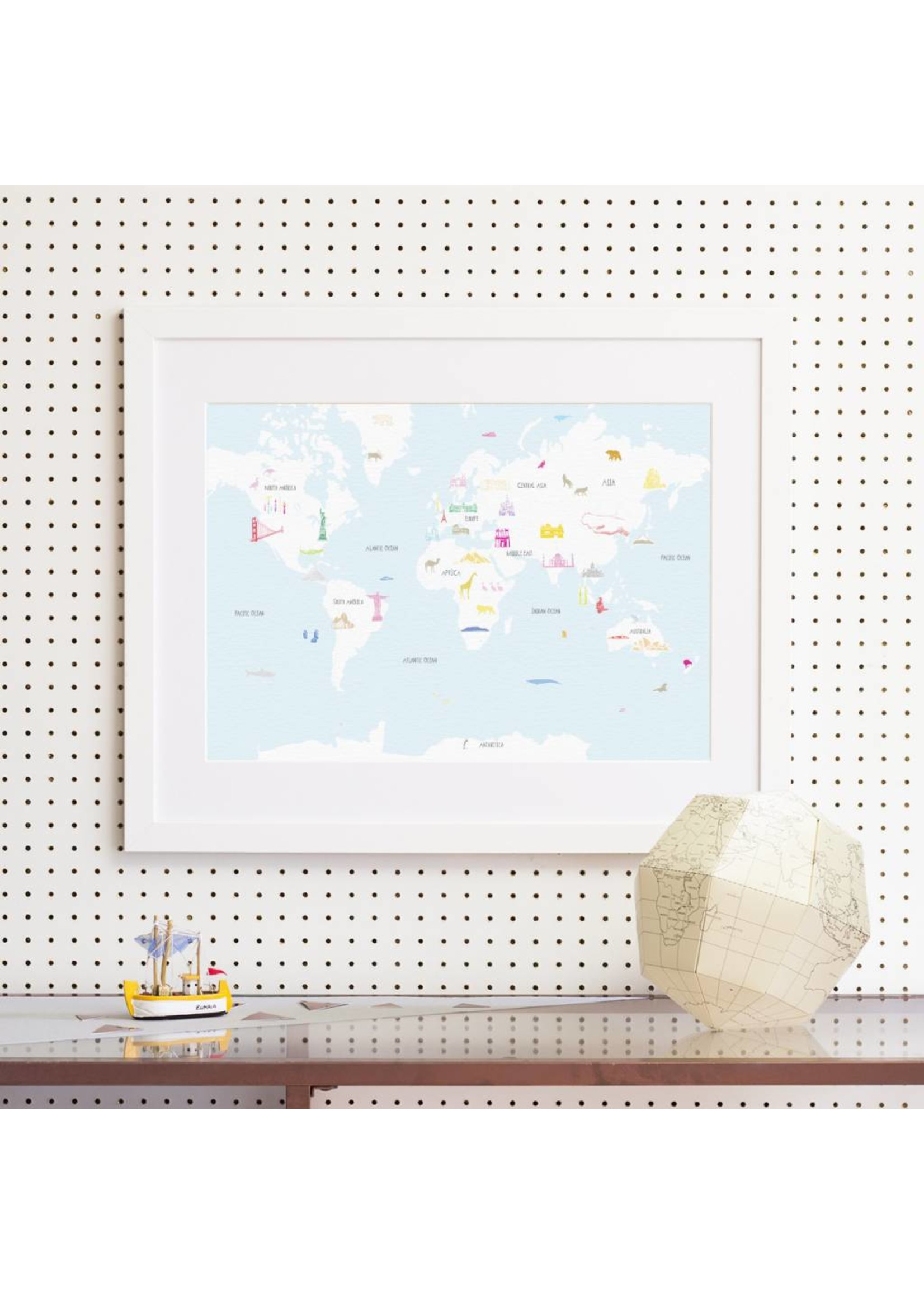 Holly Francesca Holly Francesca Map of the World Wonders A3