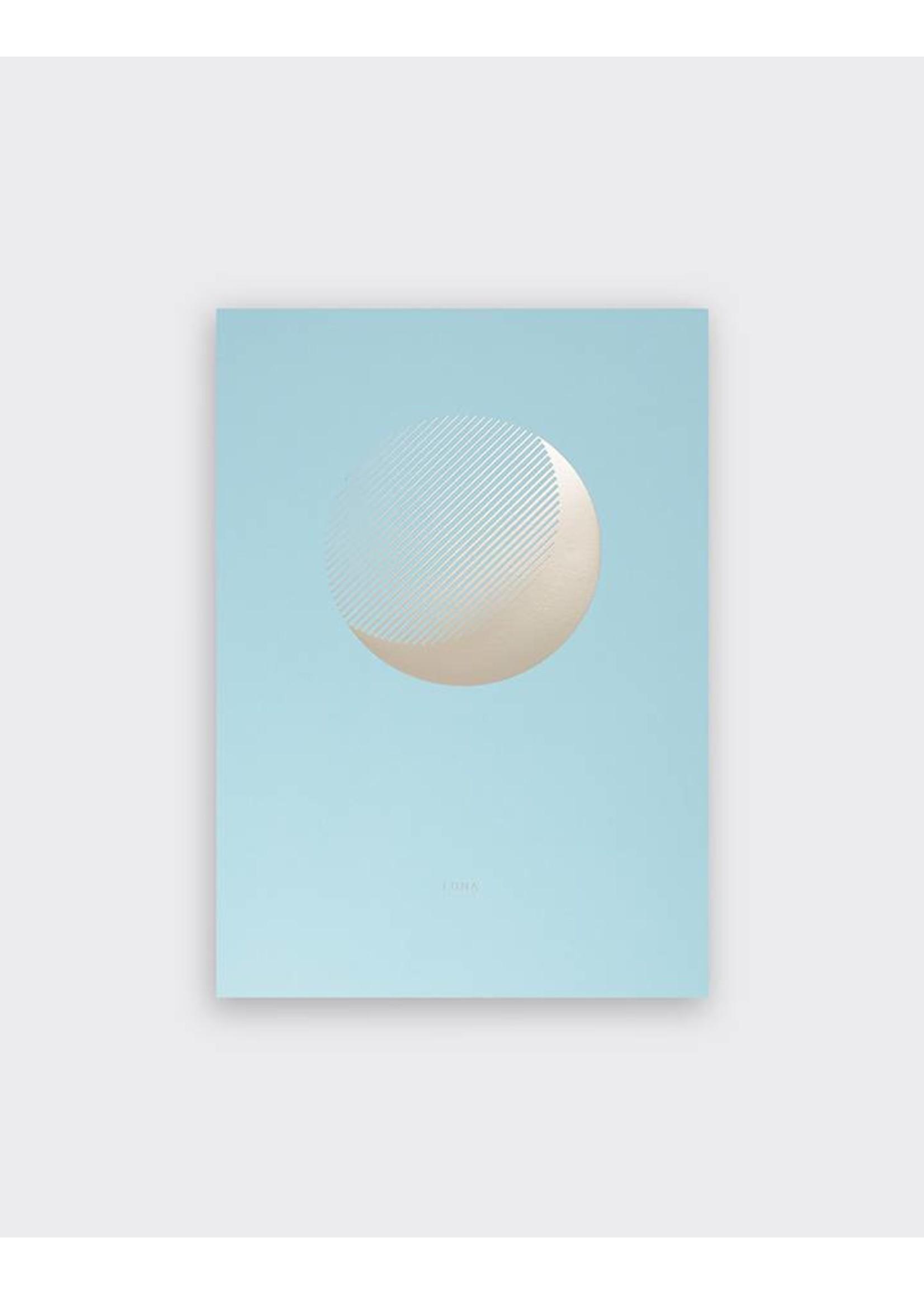 Tom Pigeon Tom Pigeon 'Luna' Day Print A3