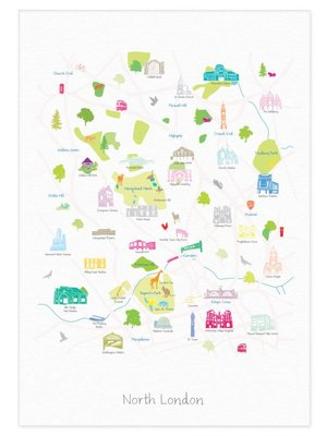 Holly Francesca Map of North London - A3