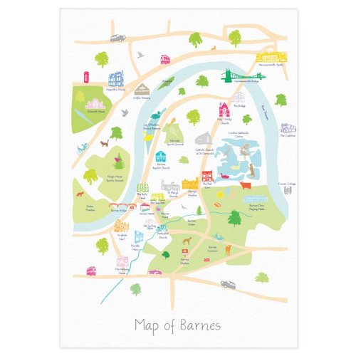 Holly Francesca Map of Barnes - A3
