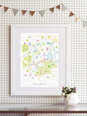 Holly Francesca Holly Francesca Map of Barnes - A3