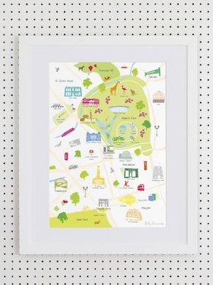 HYMN London Holly Francesca Map of Regent's Park- A3