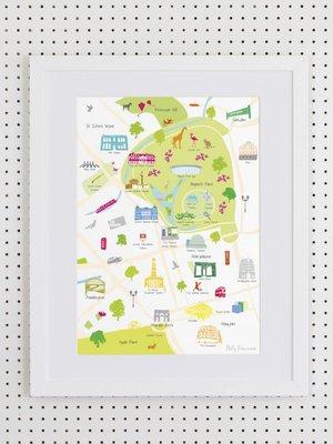 HYMN London Map of Regent's Park- A3